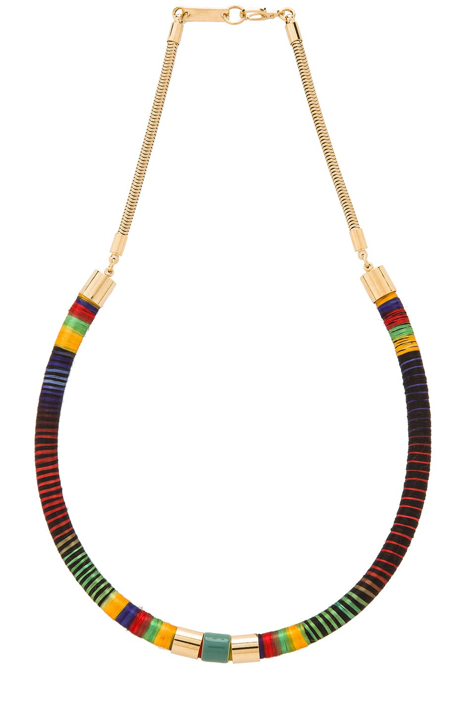 Image 1 of Isabel Marant Stripes Necklace in Multi
