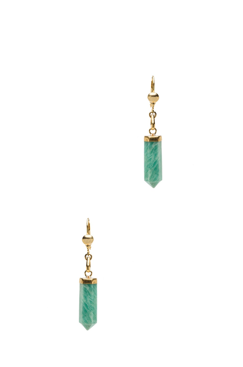 Image 1 of Isabel Marant New Day Brass Earrings in Gold & Green