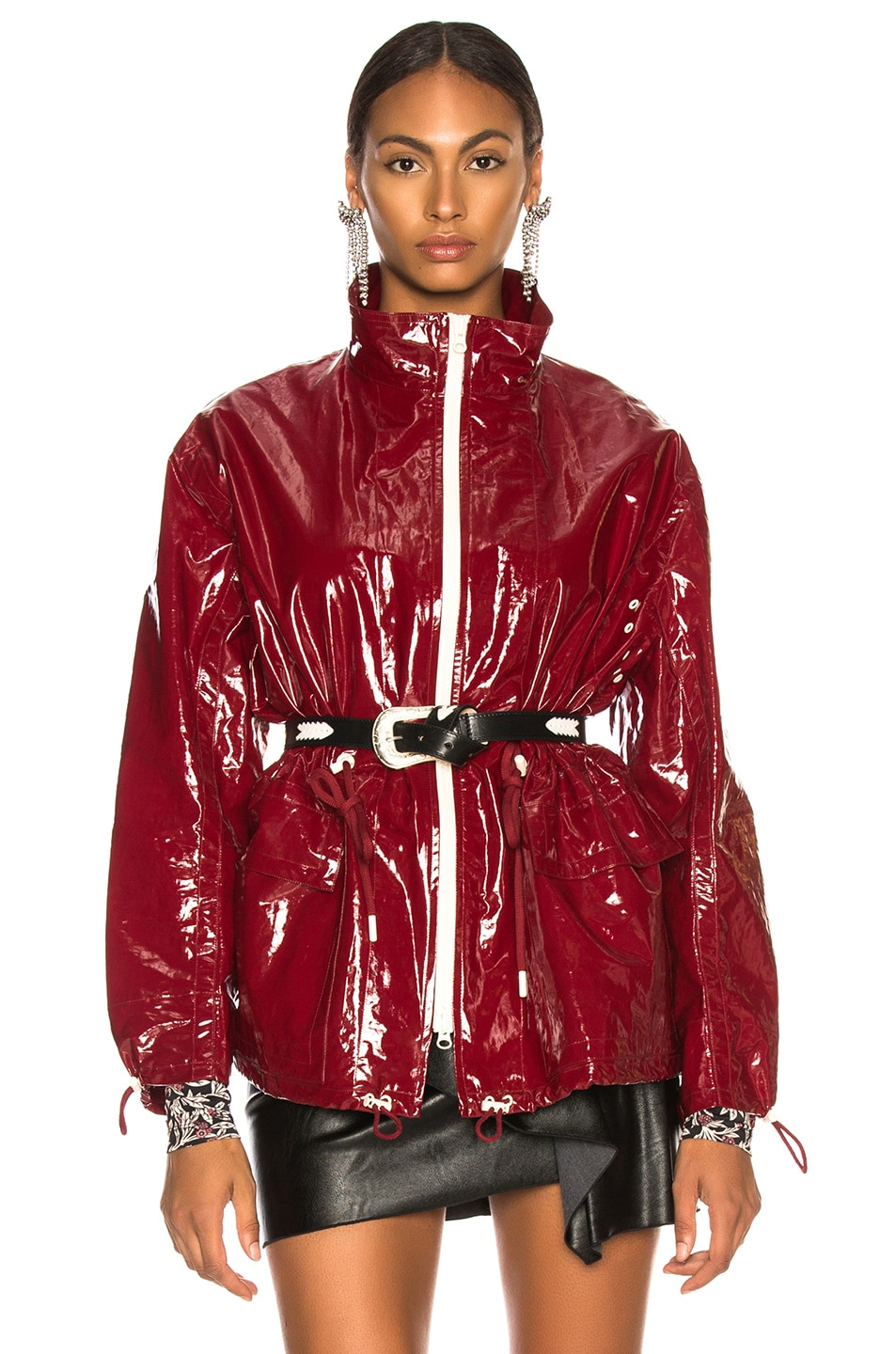 Image 1 of Isabel Marant Enzo Jacket in Burgundy