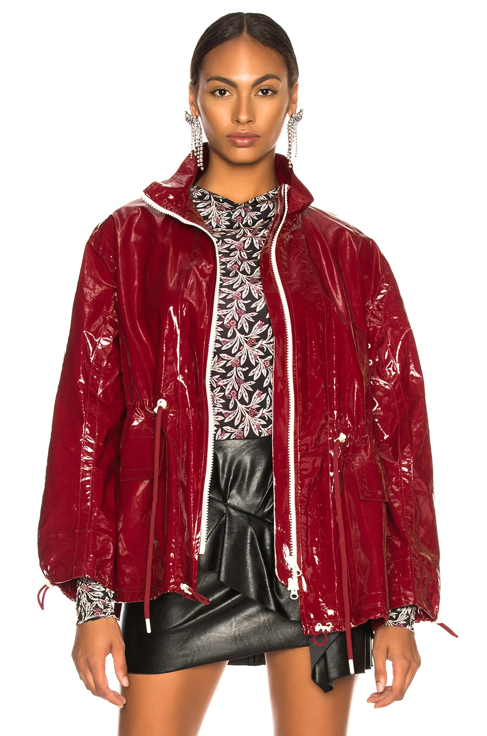 Image 2 of Isabel Marant Enzo Jacket in Burgundy