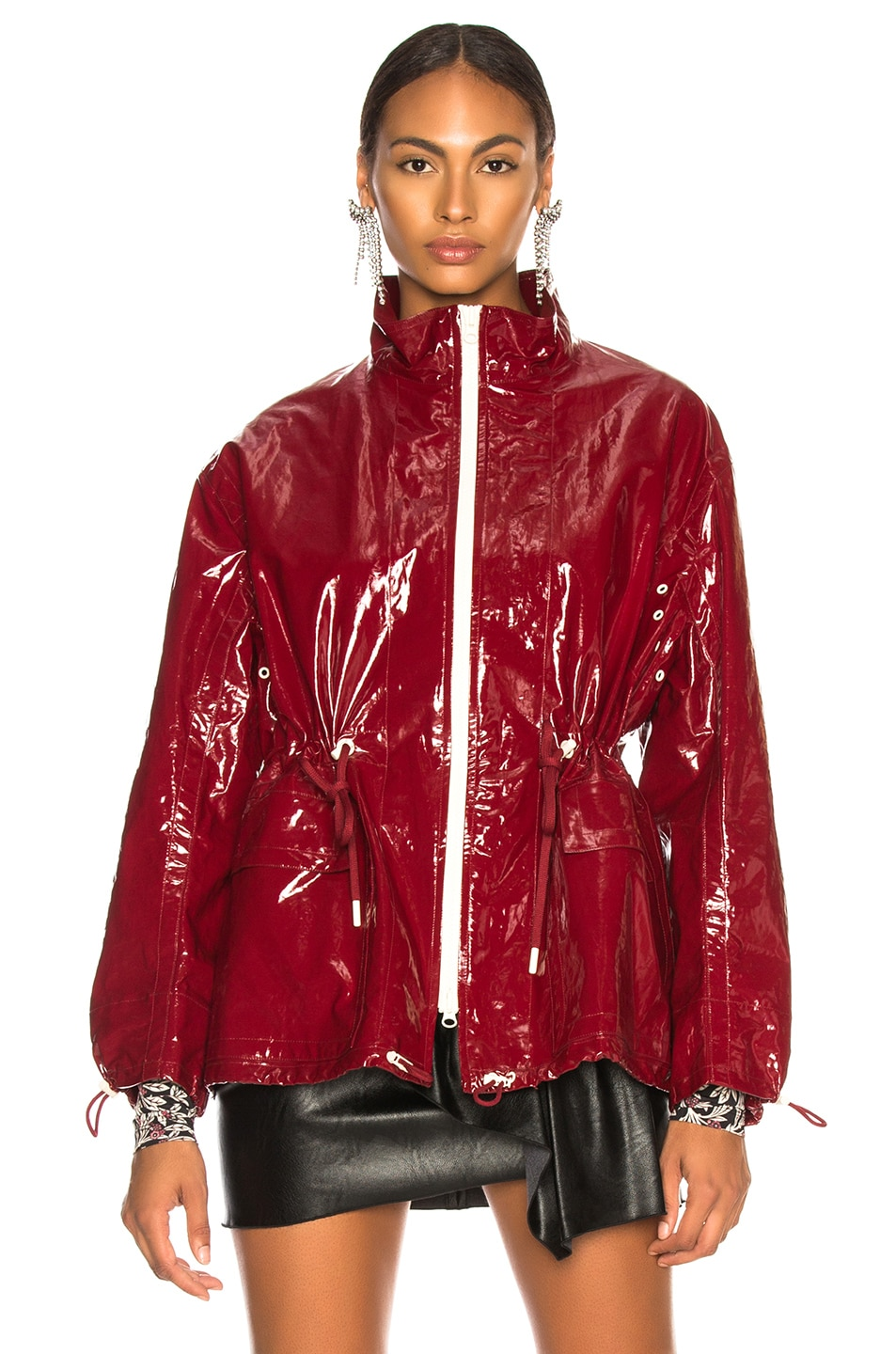 Image 3 of Isabel Marant Enzo Jacket in Burgundy