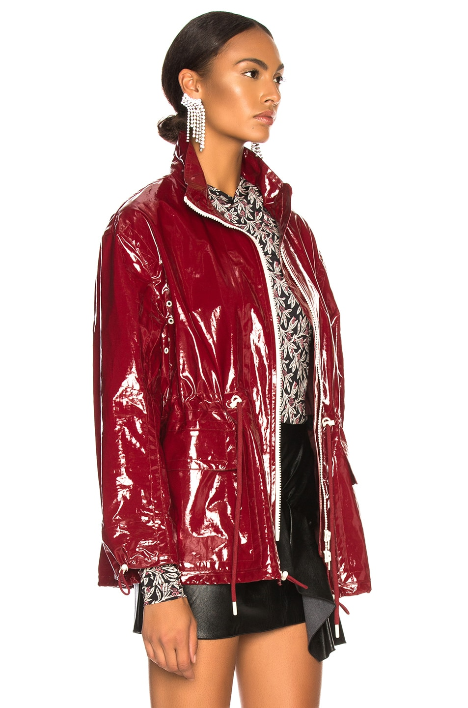 Image 4 of Isabel Marant Enzo Jacket in Burgundy