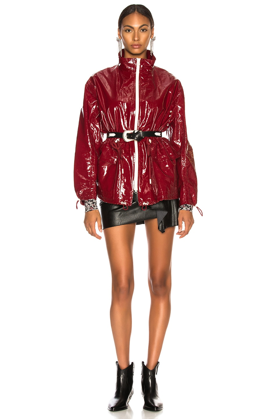Image 6 of Isabel Marant Enzo Jacket in Burgundy