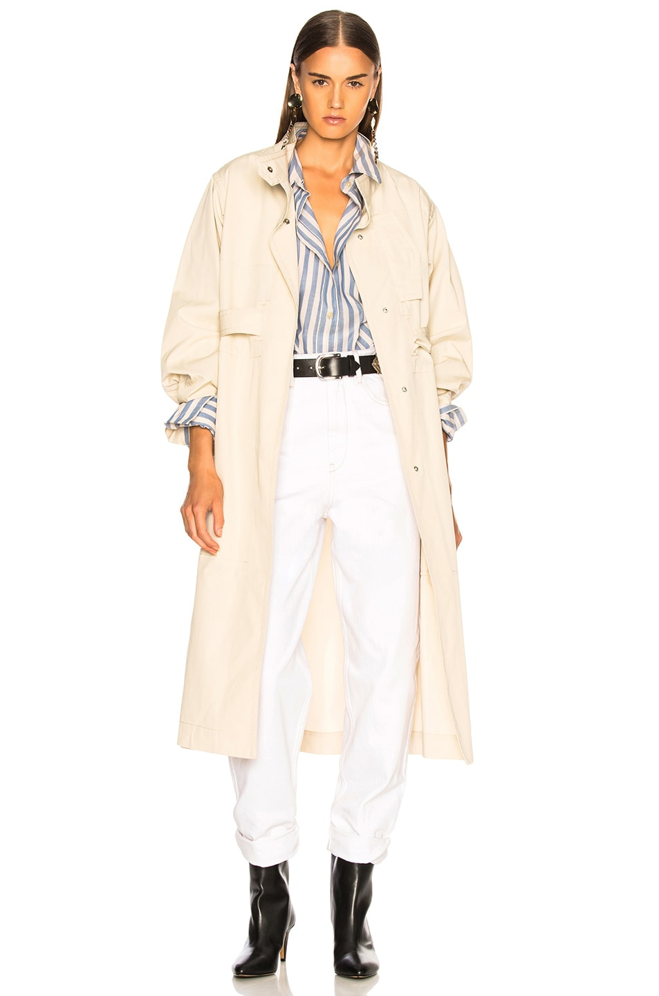 4e2b715a237 Image 1 of Isabel Marant Jaci Trench Coat in Ecru
