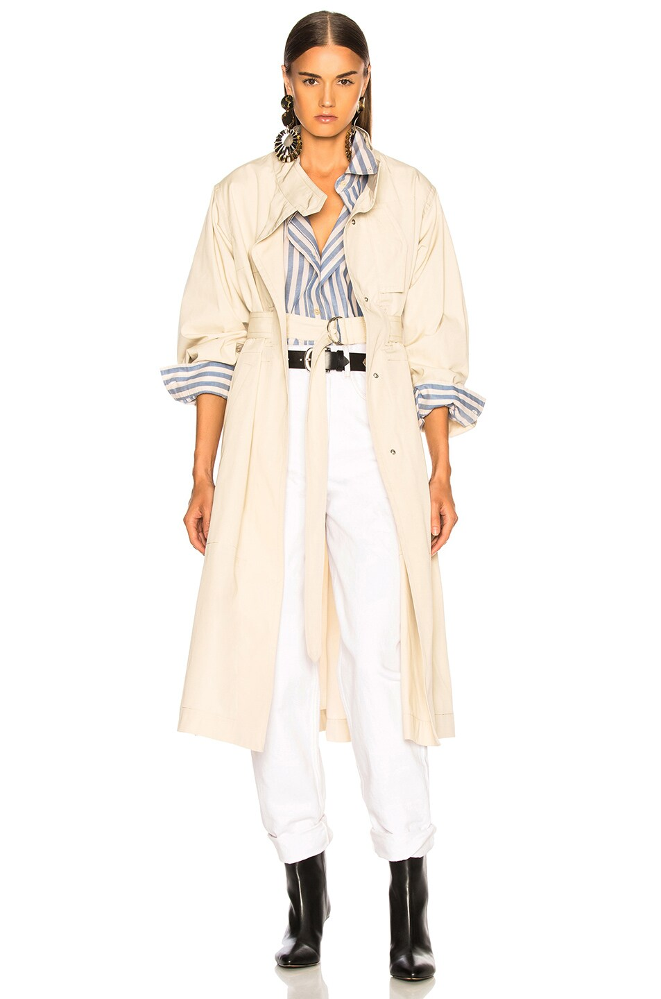 Image 2 of Isabel Marant Jaci Trench Coat in Ecru