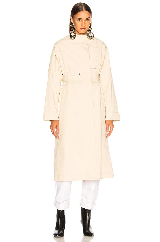 Image 3 of Isabel Marant Jaci Trench Coat in Ecru