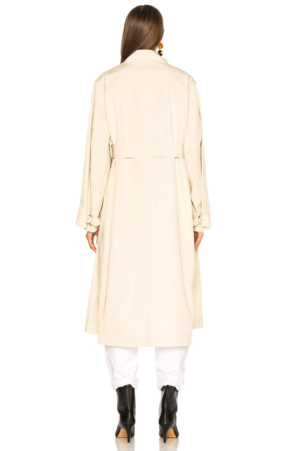 Image 5 of Isabel Marant Jaci Trench Coat in Ecru