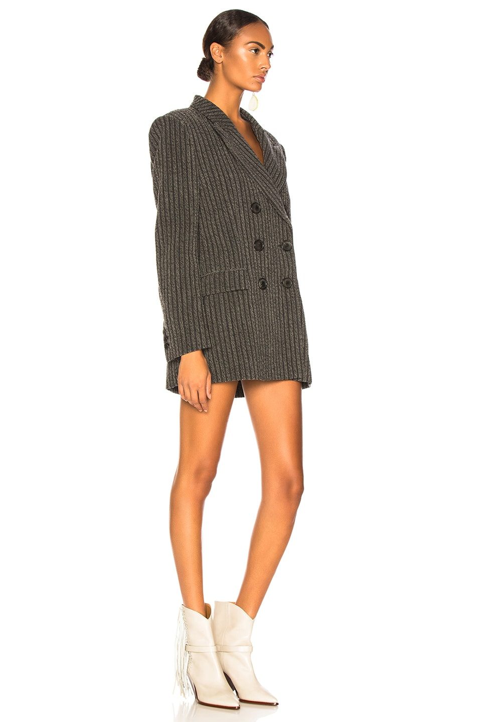 Image 3 of Isabel Marant Jaxen Blazer in Anthracite & Ecru