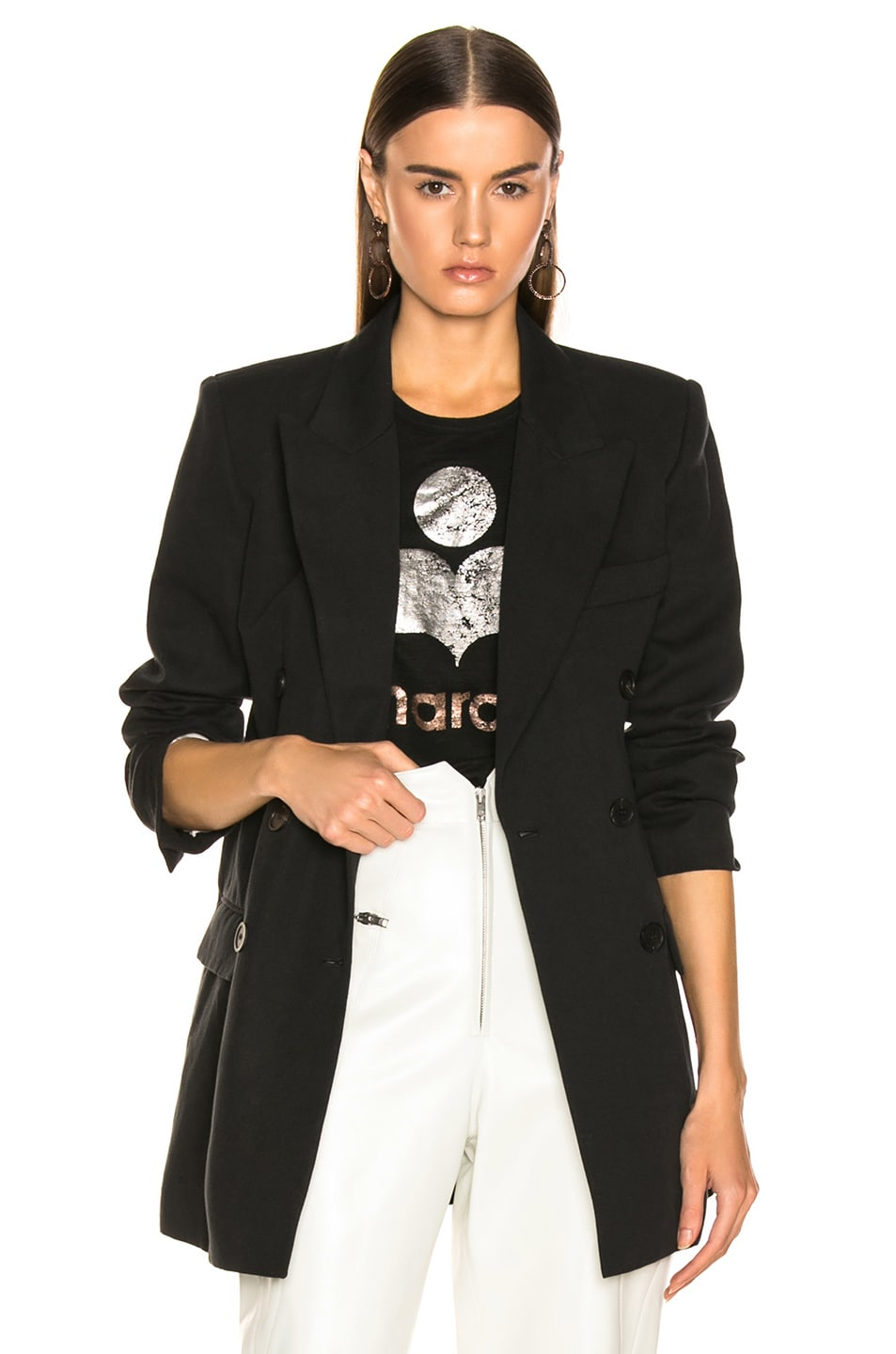 Image 1 of Isabel Marant Kleigh Jacket in Faded Black