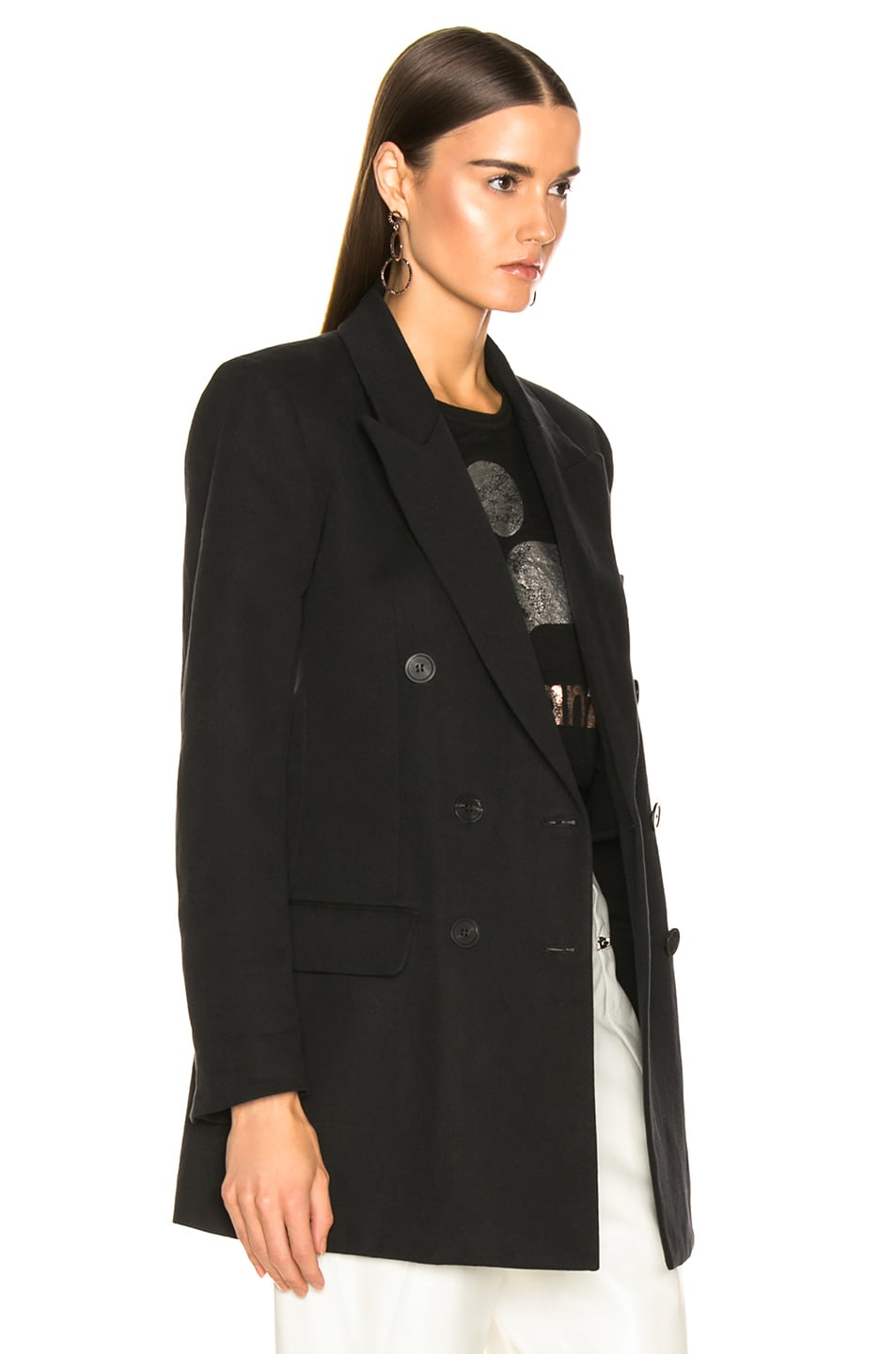 Image 3 of Isabel Marant Kleigh Jacket in Faded Black