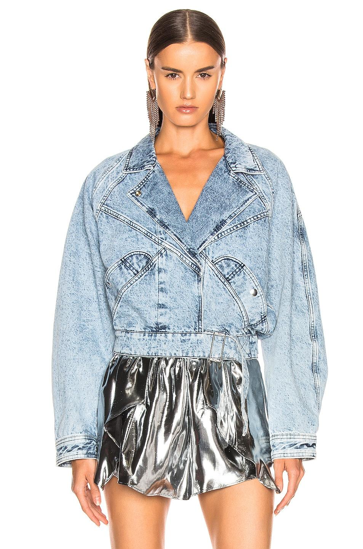 Image 2 of Isabel Marant Ravena Jacket in Snow Blue