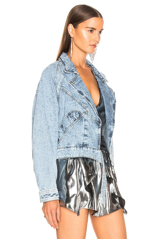 Image 3 of Isabel Marant Ravena Jacket in Snow Blue