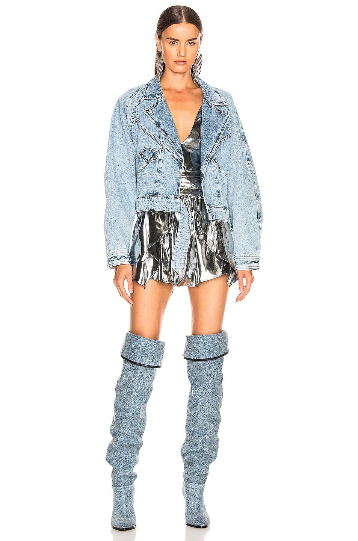 Image 6 of Isabel Marant Ravena Jacket in Snow Blue