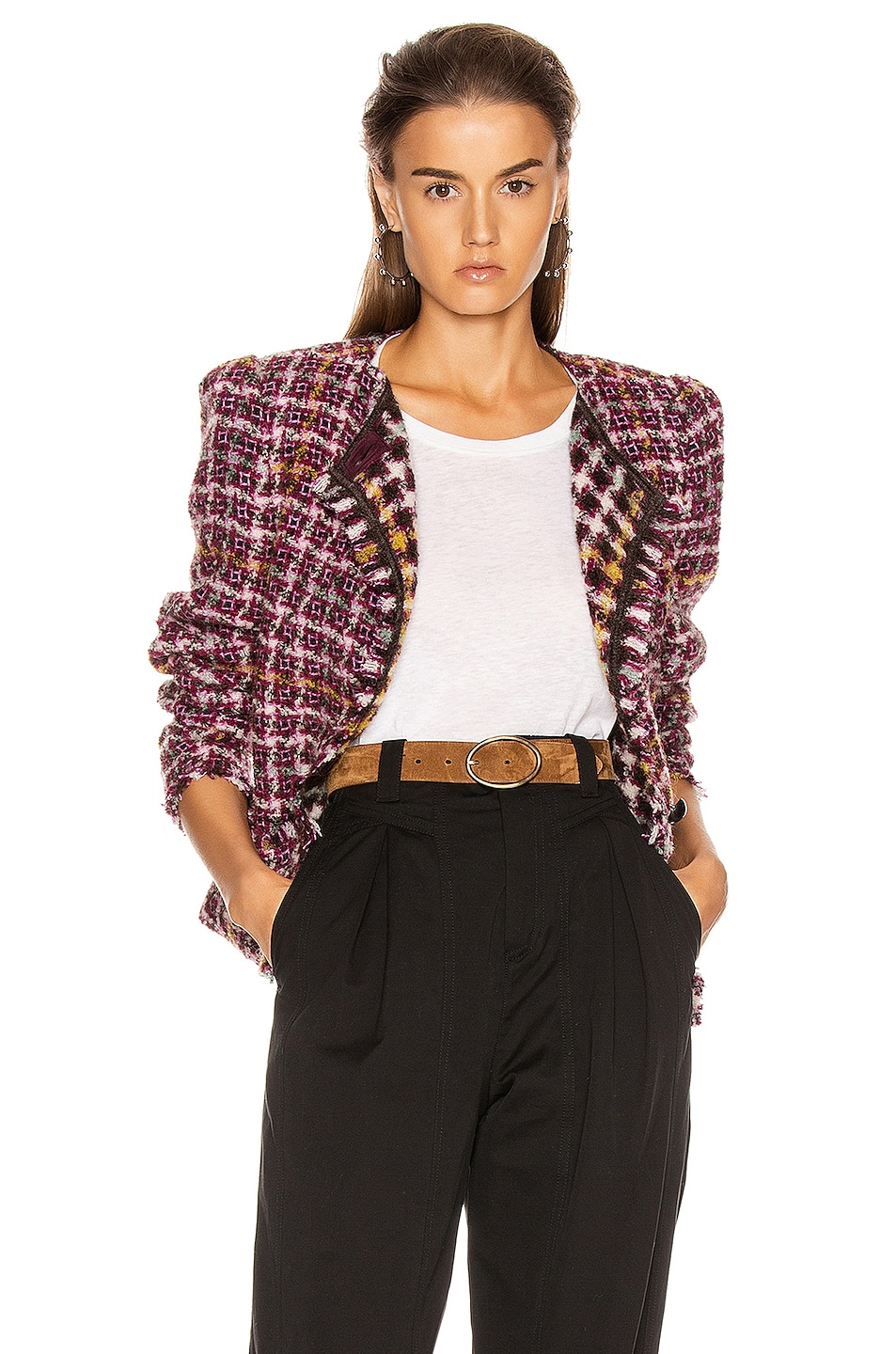 Image 1 of Isabel Marant Zoa Jacket in Fuchsia