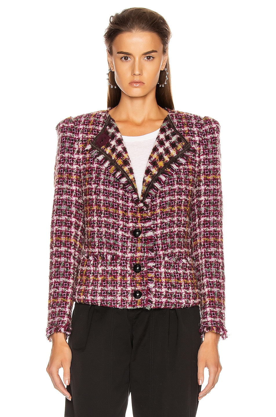 Image 2 of Isabel Marant Zoa Jacket in Fuchsia