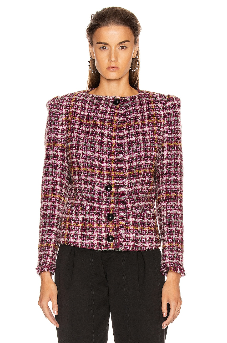 Image 3 of Isabel Marant Zoa Jacket in Fuchsia