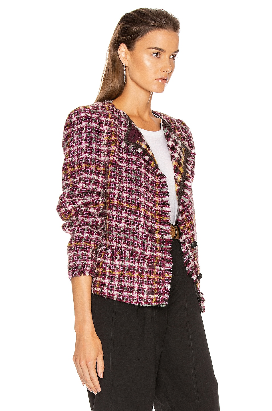 Image 4 of Isabel Marant Zoa Jacket in Fuchsia