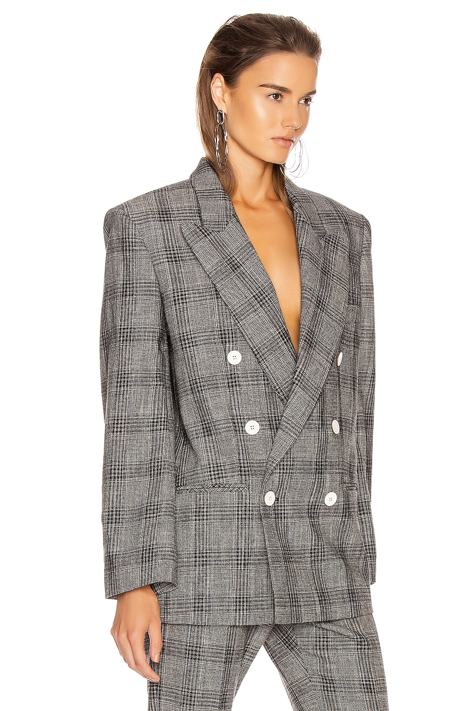Image 2 of Isabel Marant Deagan Blazer Jacket in Black & Ecru