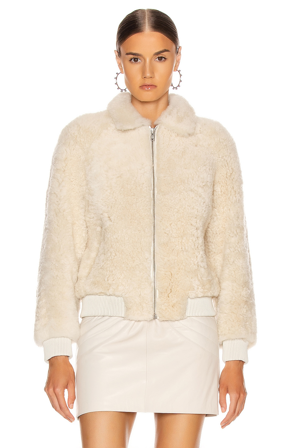 Image 2 of Isabel Marant Salvia Shearling Jacket in Ecru