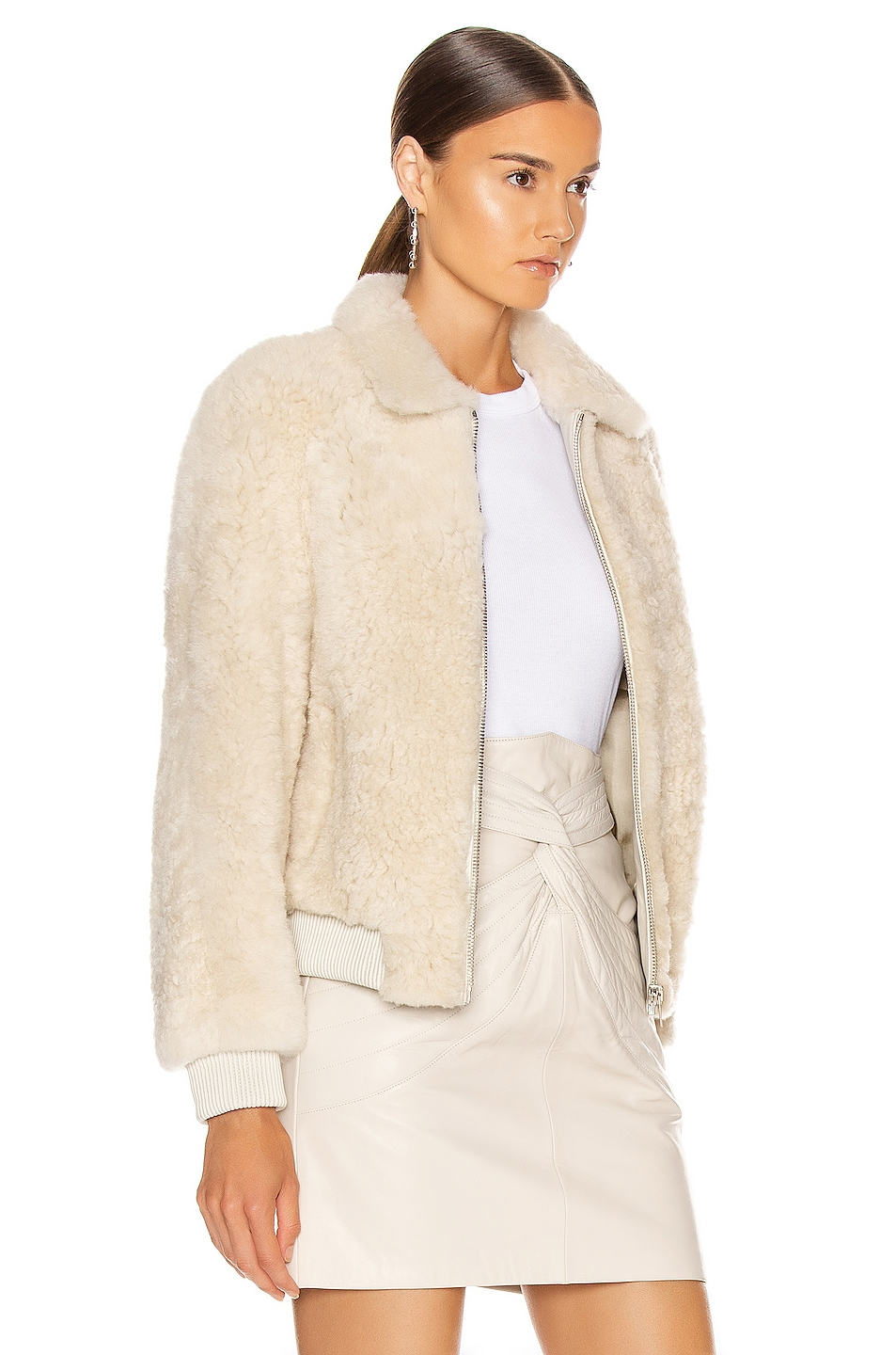 Image 3 of Isabel Marant Salvia Shearling Jacket in Ecru