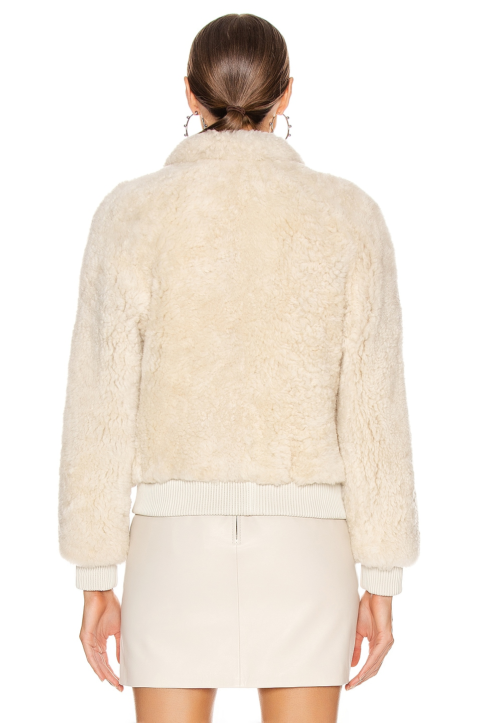 Image 4 of Isabel Marant Salvia Shearling Jacket in Ecru