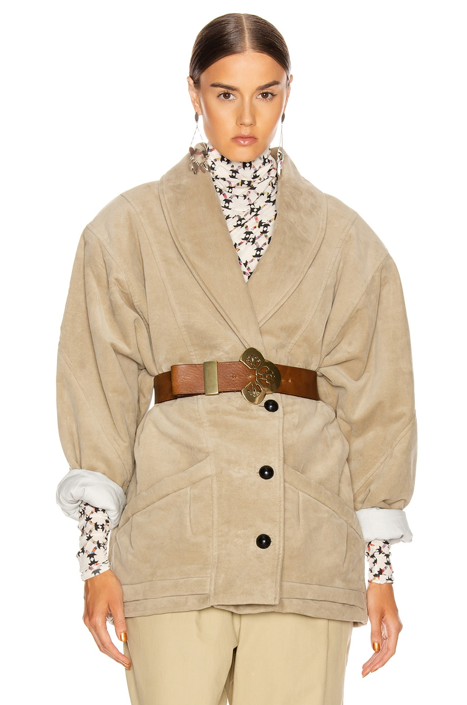 Image 1 of Isabel Marant Doreal Coat in Mastic