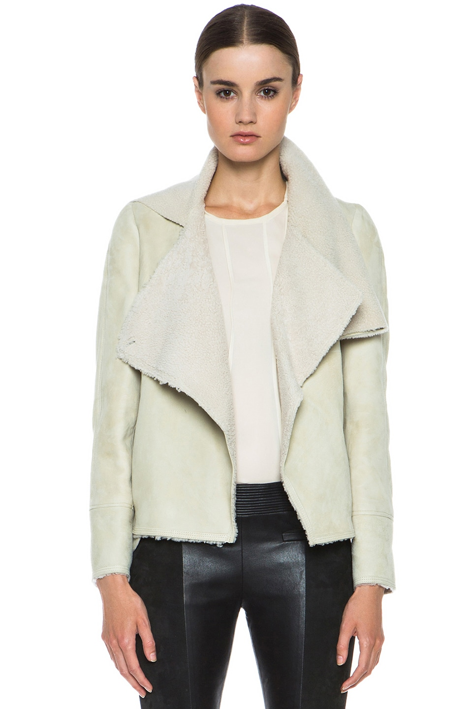 Image 1 of Isabel Marant Clayne Lambskin Jacket in Ecru