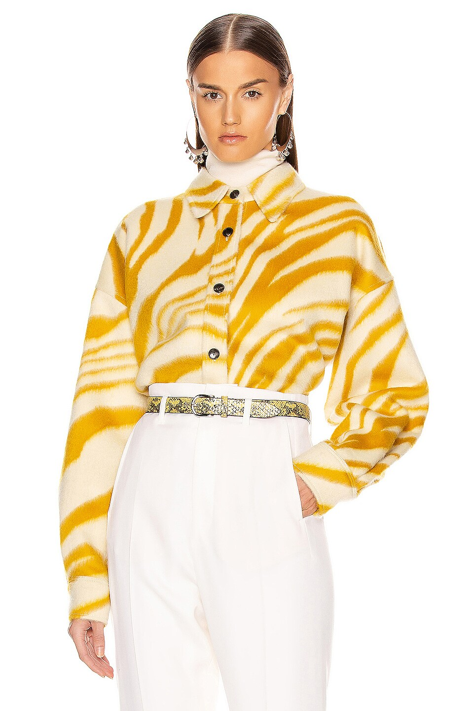 Image 2 of Isabel Marant Hanao Shirt in Yellow
