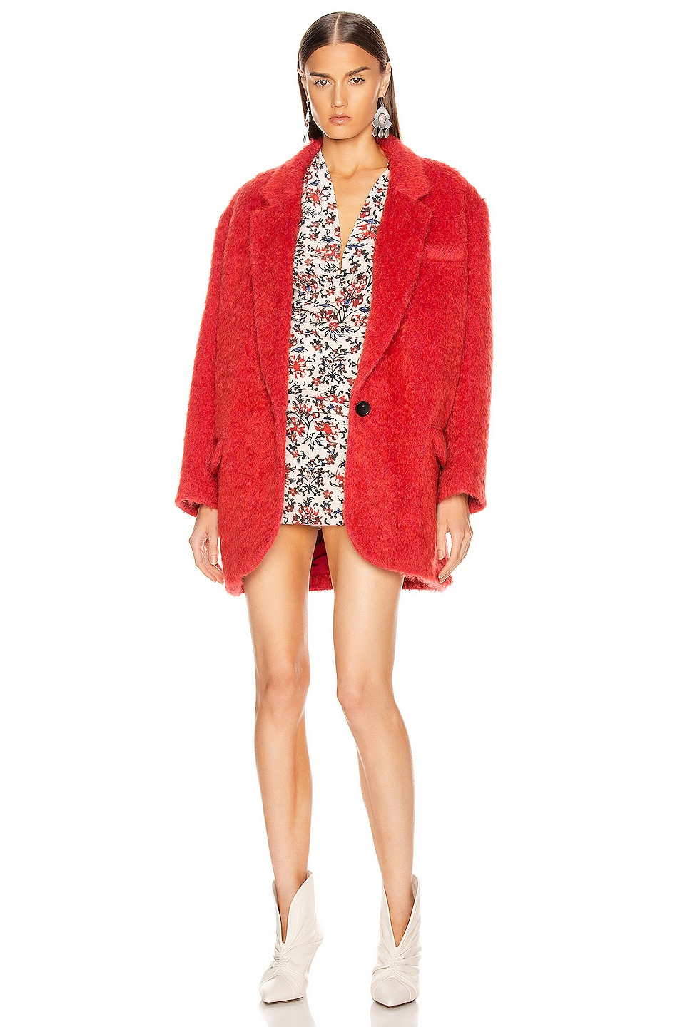 Image 1 of Isabel Marant Nady Jacket in Poppy Red