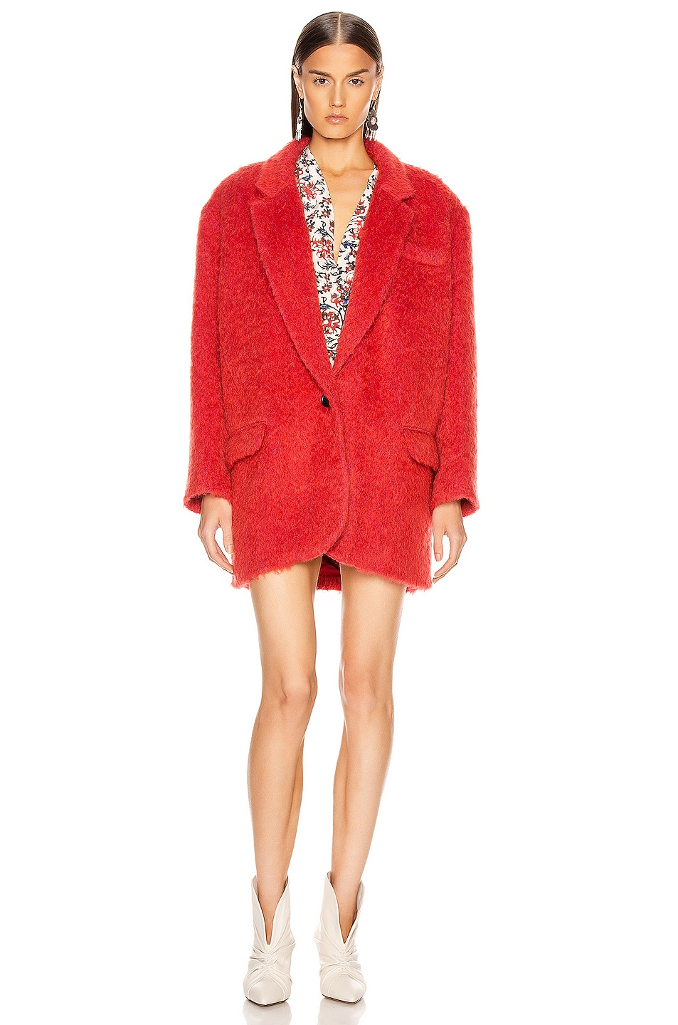 Image 2 of Isabel Marant Nady Jacket in Poppy Red