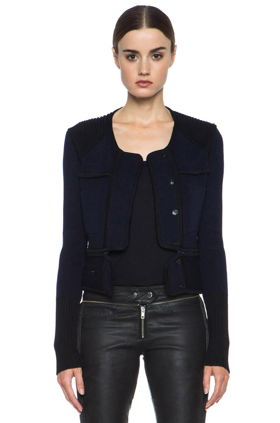 Image 1 of Isabel Marant Bazin Wool-Blend Jacket in Midnight