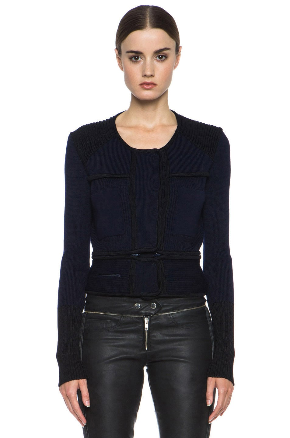 Image 2 of Isabel Marant Bazin Wool-Blend Jacket in Midnight