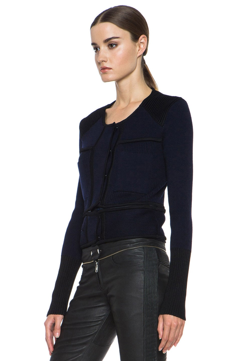 Image 3 of Isabel Marant Bazin Wool-Blend Jacket in Midnight