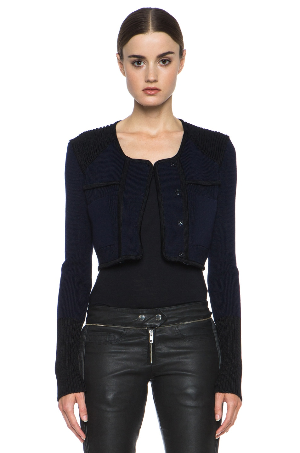 Image 6 of Isabel Marant Bazin Wool-Blend Jacket in Midnight