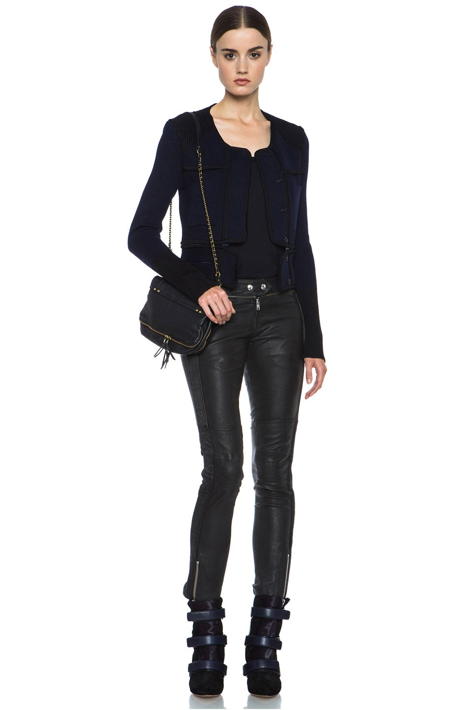 Image 7 of Isabel Marant Bazin Wool-Blend Jacket in Midnight