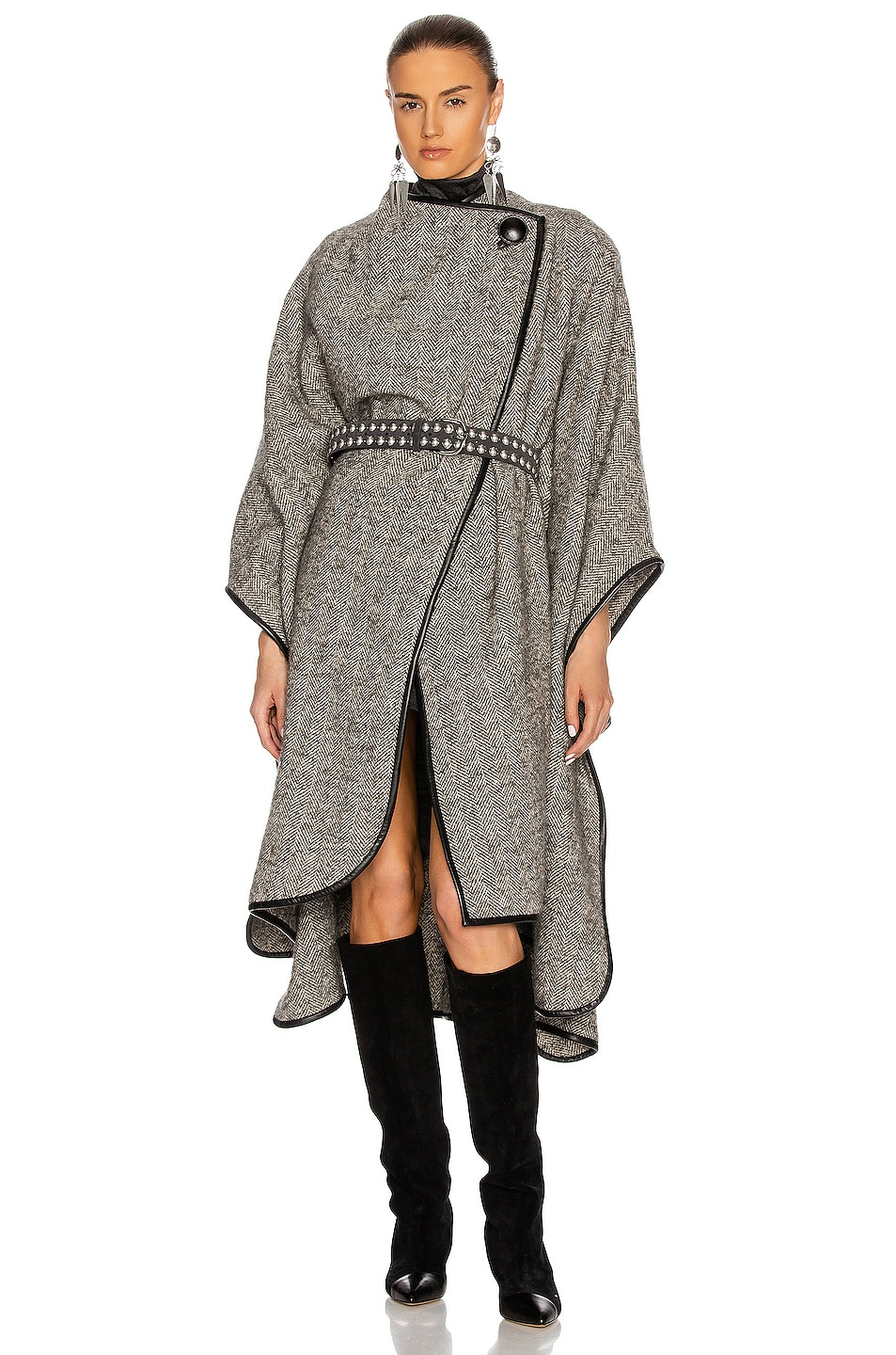 Image 1 of Isabel Marant Gomaha Cape in Grey