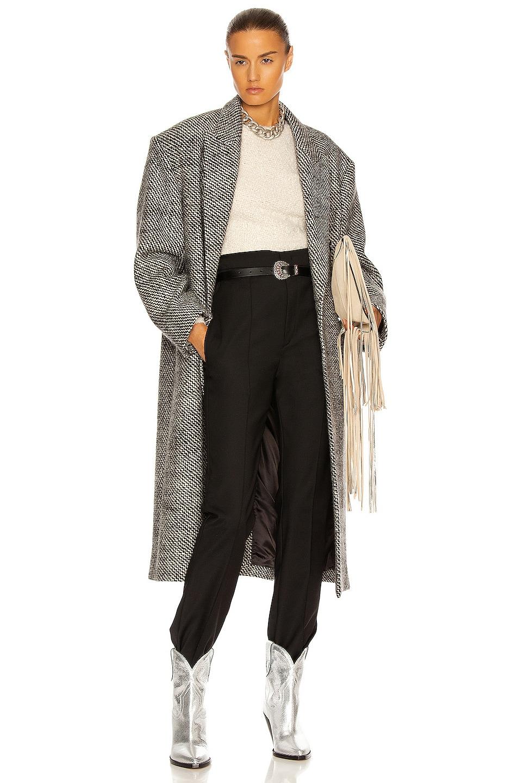 Image 1 of Isabel Marant Lojimiko Coat in Black & Ecru