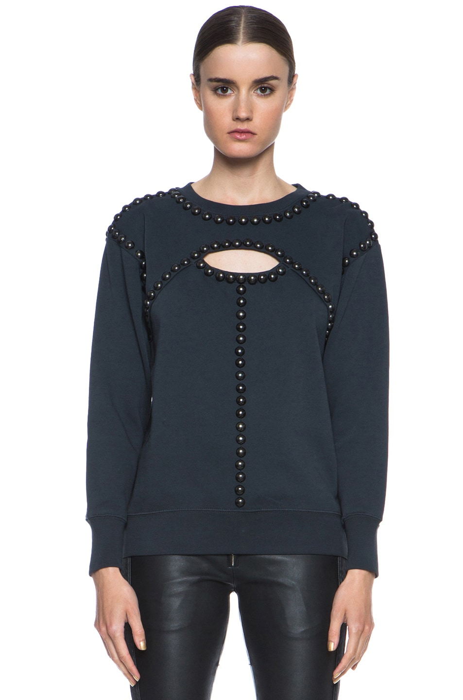 Image 1 of Isabel Marant Shiloh Cotton Sweatshirt in Faded Black