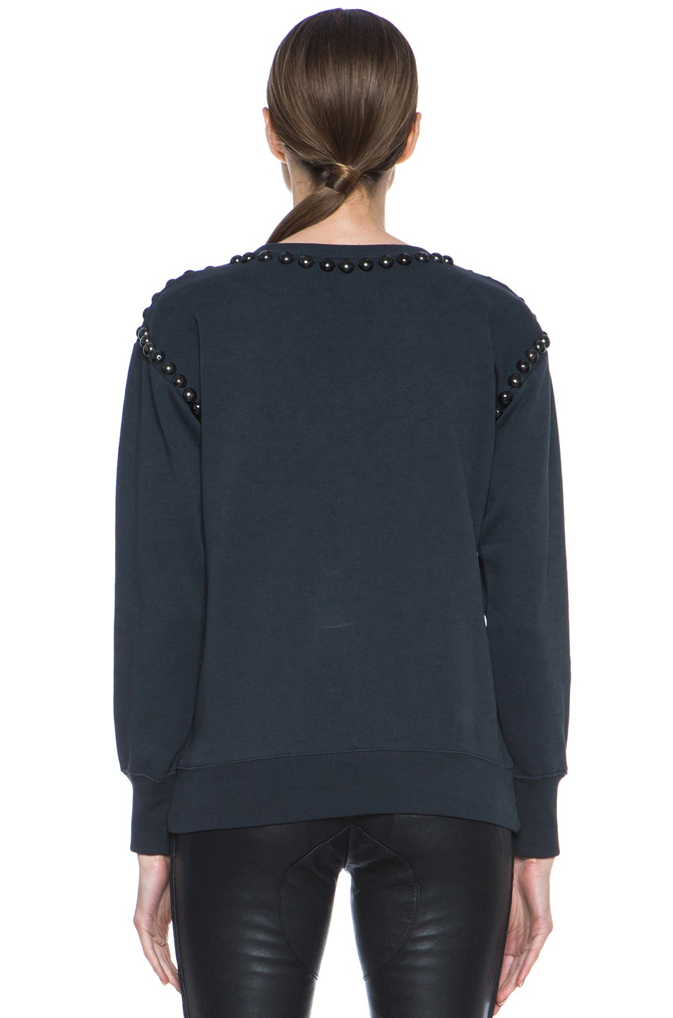 Image 4 of Isabel Marant Shiloh Cotton Sweatshirt in Faded Black