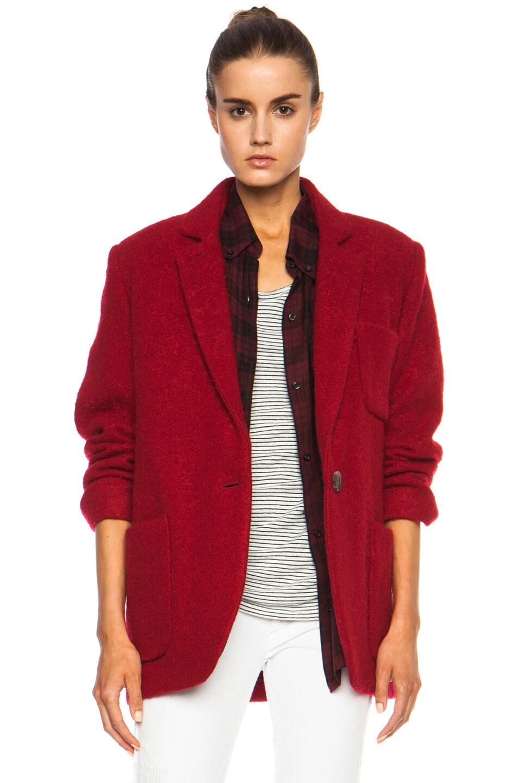 Image 1 of Isabel Marant Jady Shepard Mohair-Blend Jacket in Red