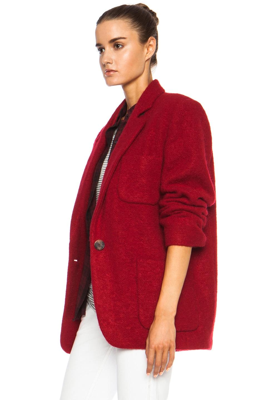Image 3 of Isabel Marant Jady Shepard Mohair-Blend Jacket in Red