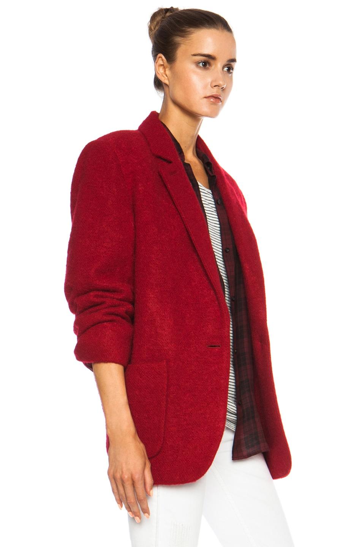 Image 4 of Isabel Marant Jady Shepard Mohair-Blend Jacket in Red