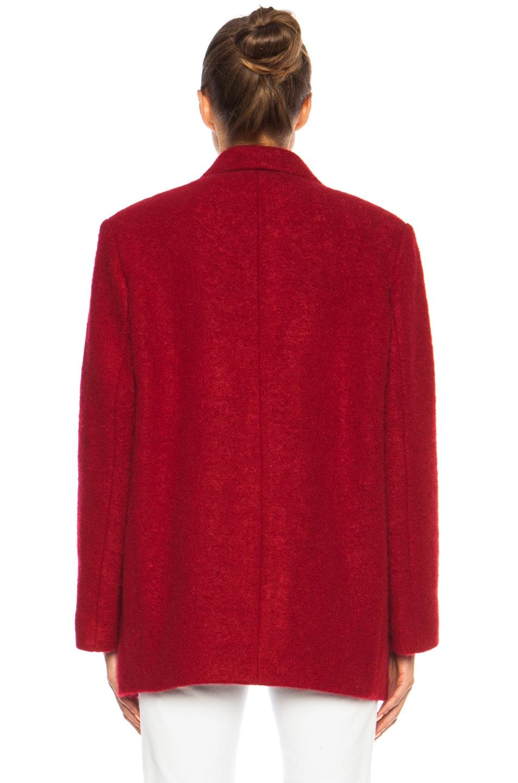 Image 5 of Isabel Marant Jady Shepard Mohair-Blend Jacket in Red