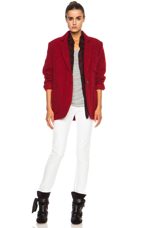 Image 6 of Isabel Marant Jady Shepard Mohair-Blend Jacket in Red