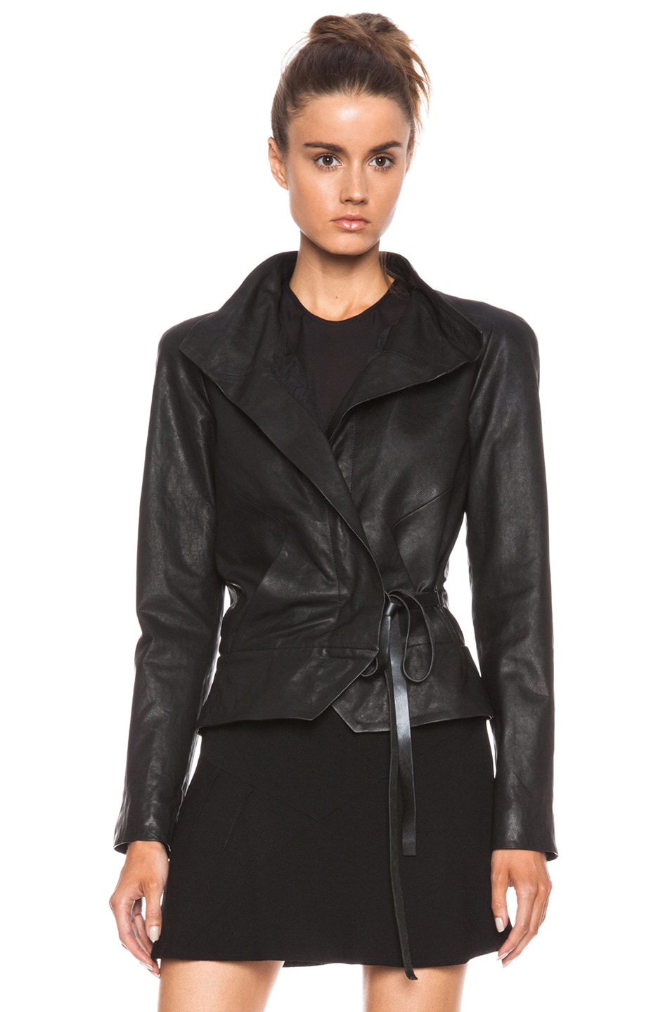Image 1 of Isabel Marant Barney Leather Jacket in Black