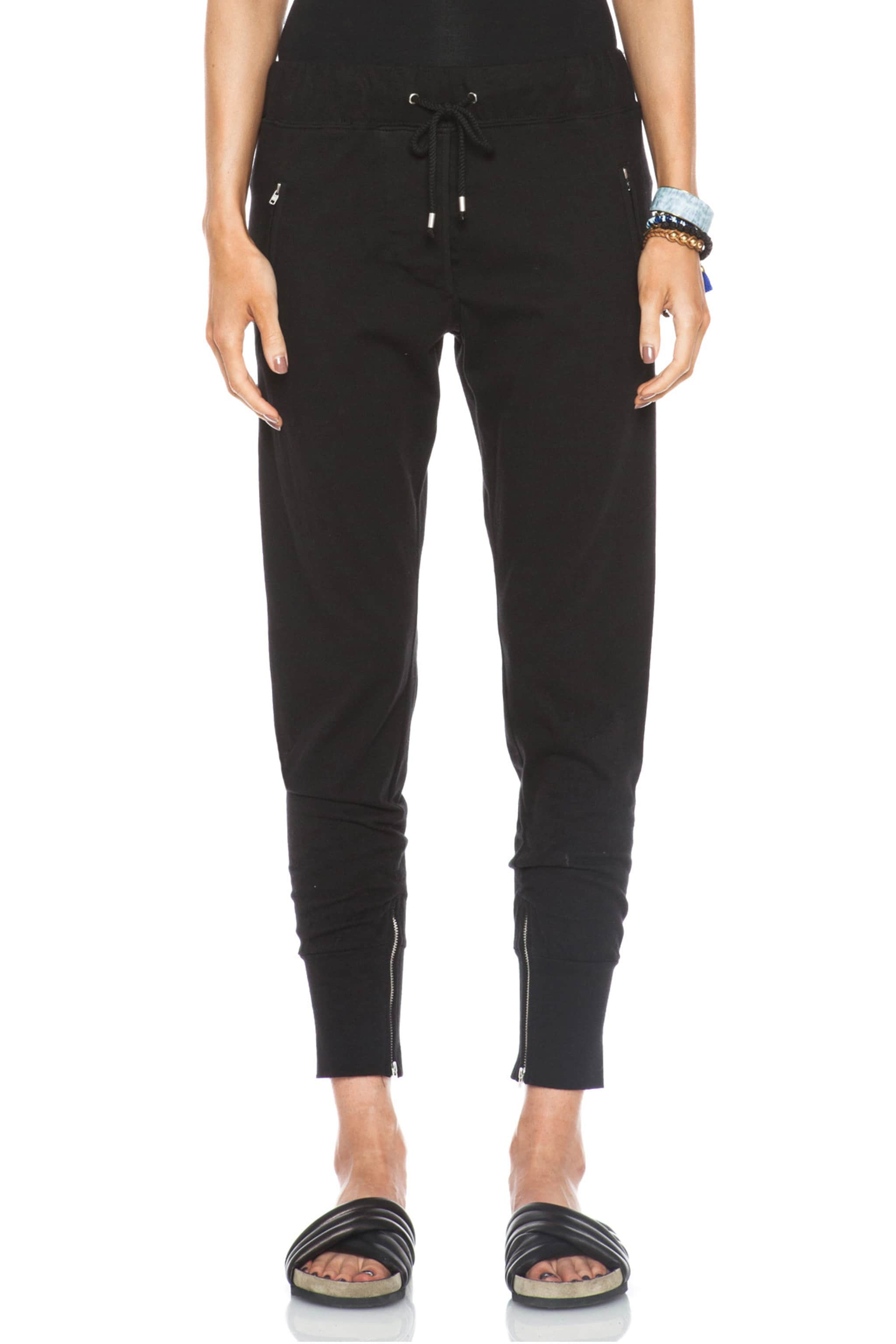 Image 1 of Isabel Marant Tevy Cotton Pants in Black