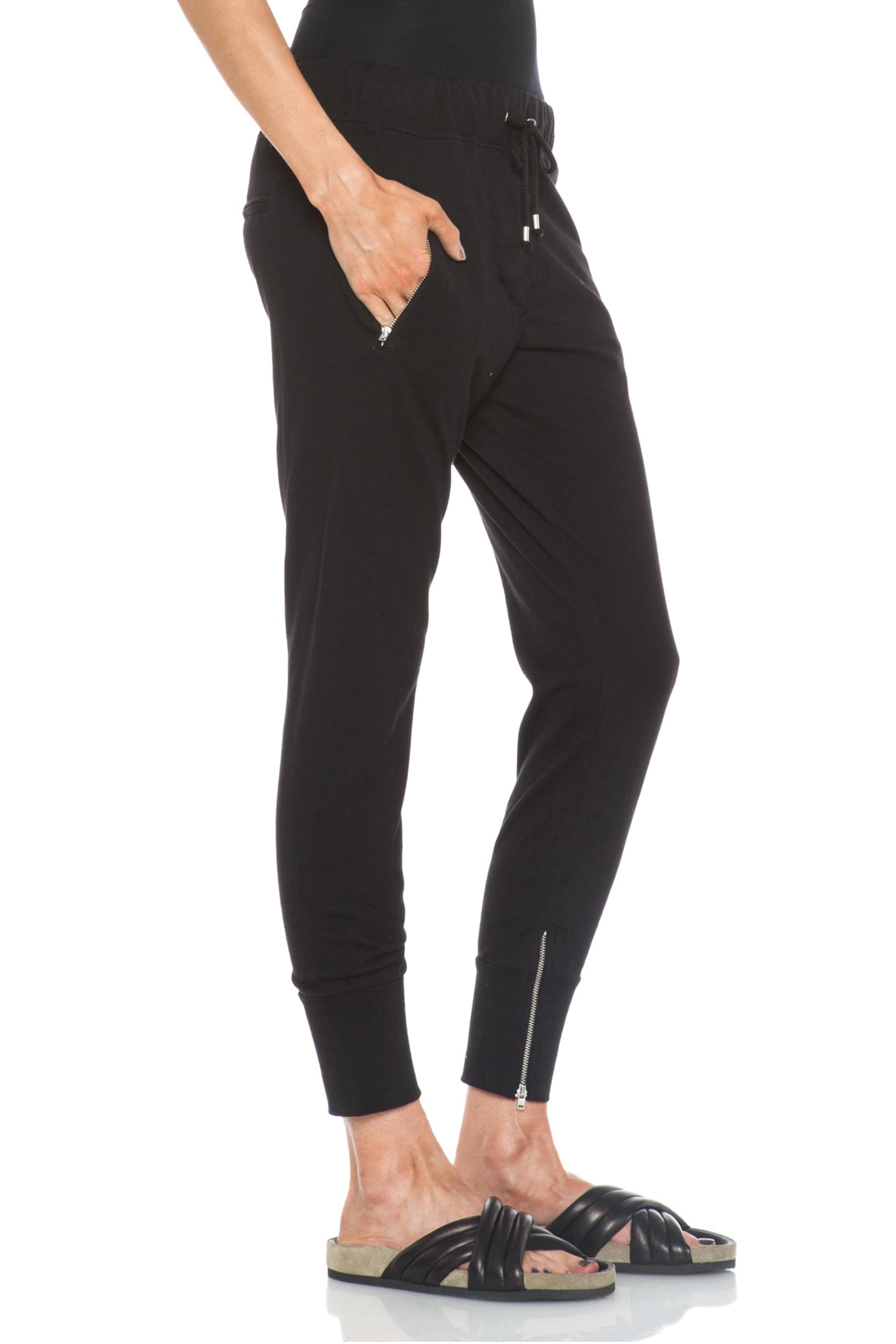 Image 3 of Isabel Marant Tevy Cotton Pants in Black