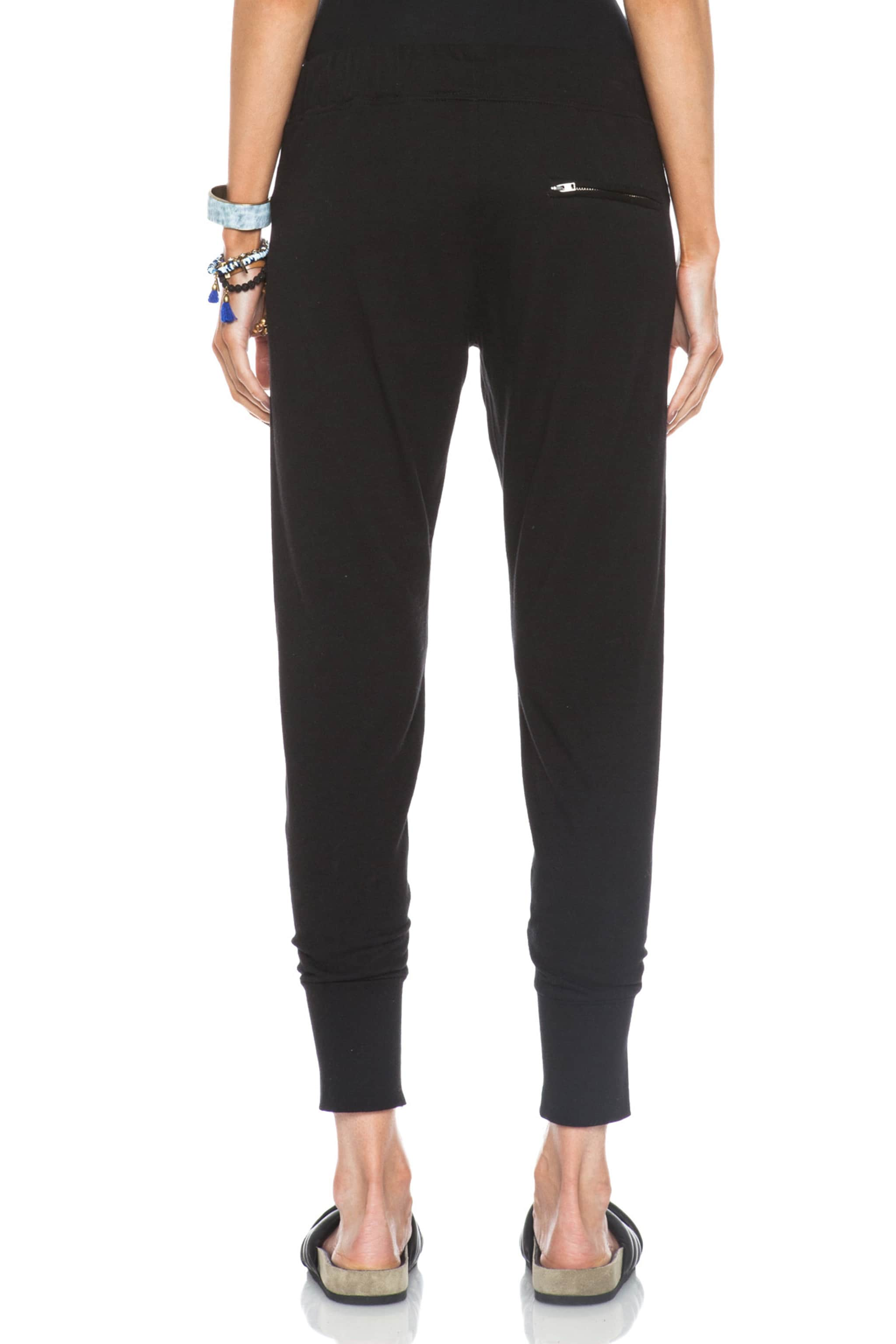 Image 4 of Isabel Marant Tevy Cotton Pants in Black
