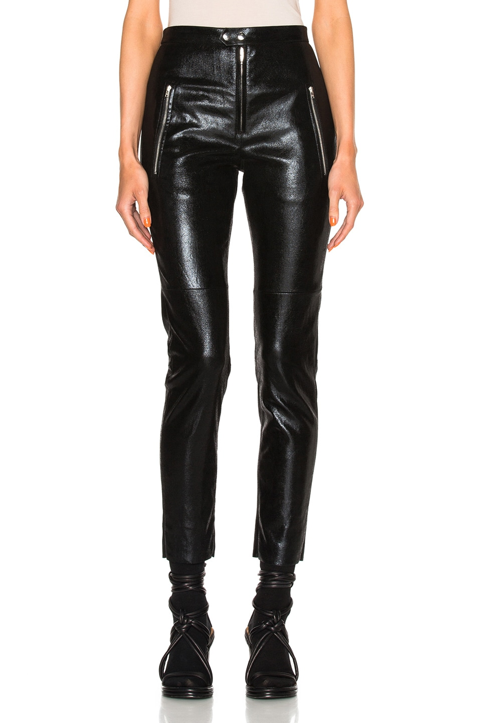 Image 1 of Isabel Marant Arnold Stretch Leather Pants in Black