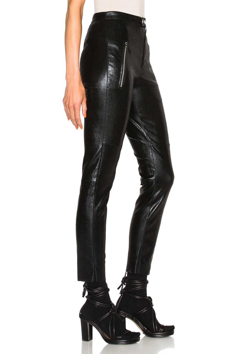 Image 3 of Isabel Marant Arnold Stretch Leather Pants in Black
